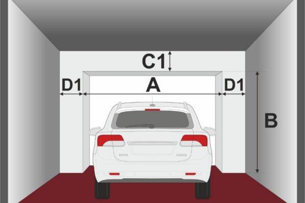 премерете вътре в гаража